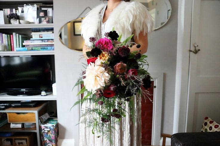 A Sequin Dress for a Florist Bride and her Colourful Village Hall Wedding