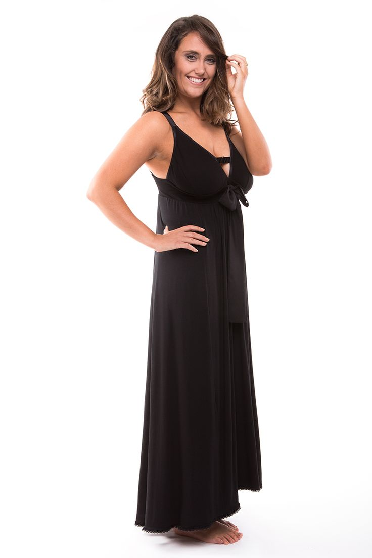 Nerida Night Dress in Black (also available in Burnt Orange, Ice White and Smoke)