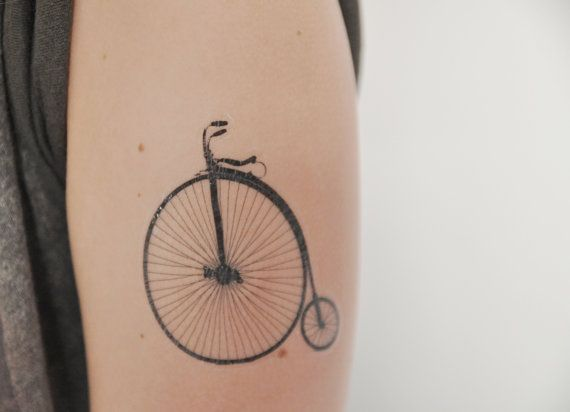 Penny Farthing Temporary Tattoo Shabby Chic by JoellesEmporium, £4.00