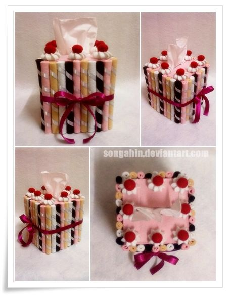Biscuit Tissue Cake Box... by SongAhIn.deviantart.com on @DeviantArt