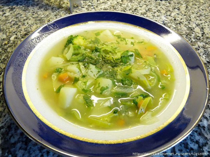 Суп вегитарианский из диеты №5