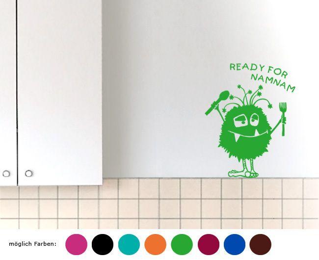 Wandtatoo - READY FOR NAMNAM von zackzack auf DaWanda.com