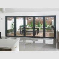 Vufold Supreme Aluminium Bi-fold Doors 14ft Grey