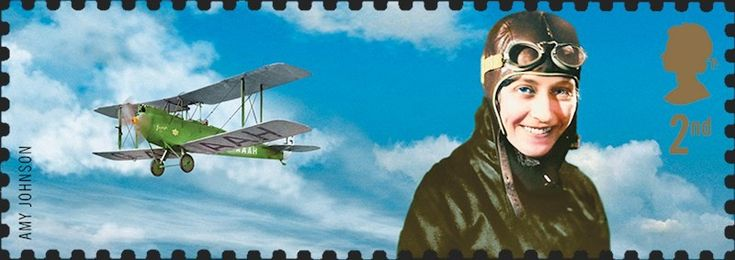 United Kingdom. Extreme Endeavours. Stamp name: Amy Johnson. Value: Second Class. Release date: 29 April 2003