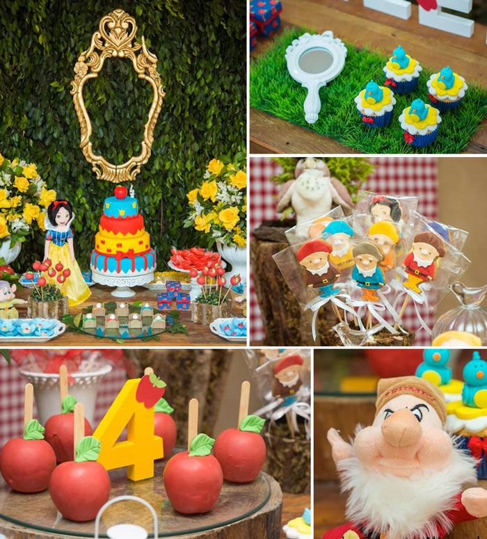 Snow White and the Seven Dwarfs themed birthday party with Lots of Really Great Ideas via Kara's Party Ideas | KarasPartyIdeas.com #snowwhit...