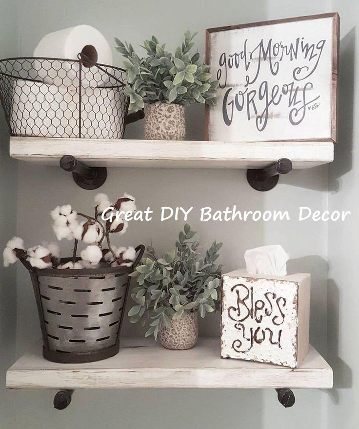 14 Very Creative DIY Ideas For the Bathroom #diybathroom   – DIY Bathroom Decoration Ideas