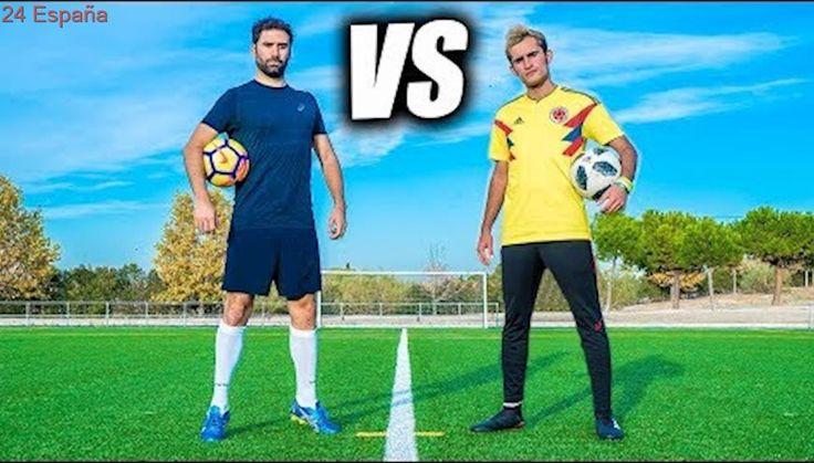 JORGE CREMADES VS DELANTERO09 - Retos de Fútbol Épicos