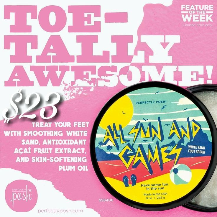 New Perfectly Posh Feature of the Week! Sand foot scrub on sale for a limited time!