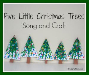 {Five Little Christmas Trees} Craft and Song by JDaniel4's Mom