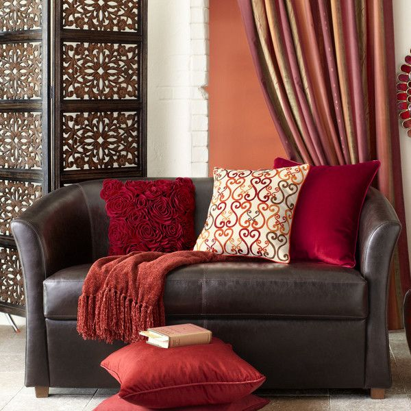 Pier 1 Imports Isaac Loveseat ($620) ❤ Liked On Polyvore Featuring Home,  Furniture