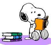 Image result for image snoopy reading