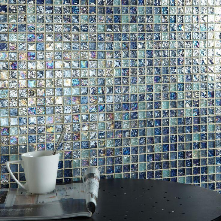 hammered light blue mix glass mosaic 20x20 blue mosaicglass mosaic tilestiles ukbathroom