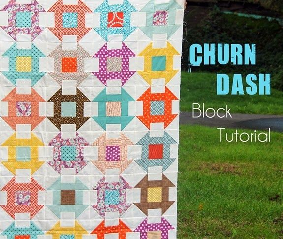 "Churn Dash Block Tutorial - makes 9.5"" unfinished square 