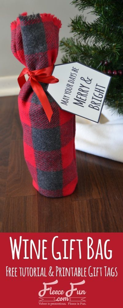 I love this wine bottle gift bag idea. It's so simple but a sweet and classy way to present a gift. I love the handmade gift aspect to it too!