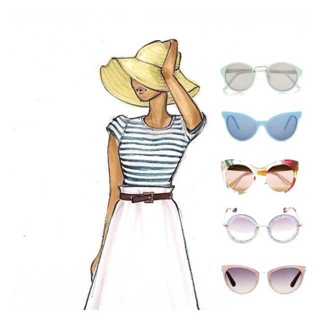 S H A D E S | ☀️☀️ by earringsandstuff on Polyvore featuring polyvore, fashion, style, River Island, Tom Ford, Gucci, Wildfox, Miu Miu, Summer and sunglasses