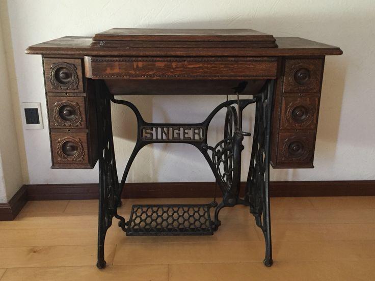 Antique tredle sewing machine
