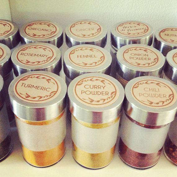 kitchen spice labels di SweetBonnieChristine su Etsy