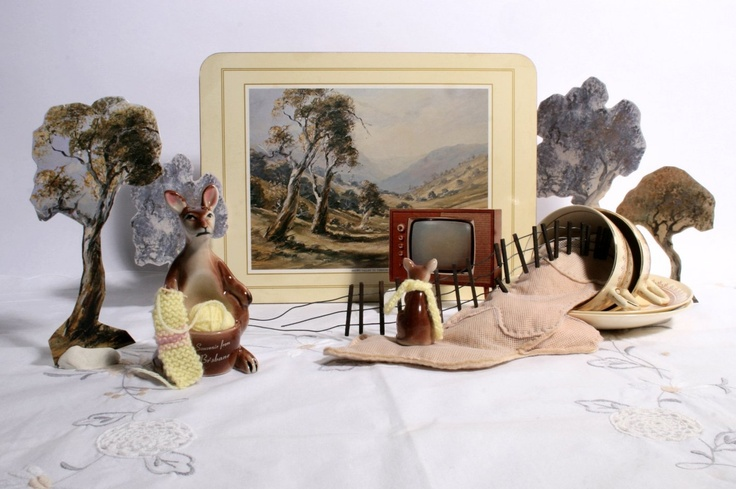 Summer in Threadbo is Cool, photographic diorama, Lynda Wilson