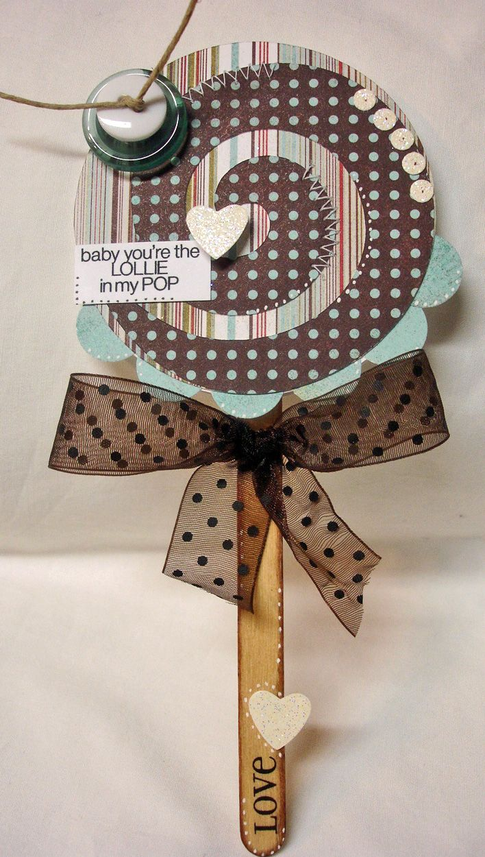 The Cutting Cafe': Lollipop shaped card