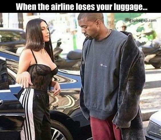 When airline loses your luggage…