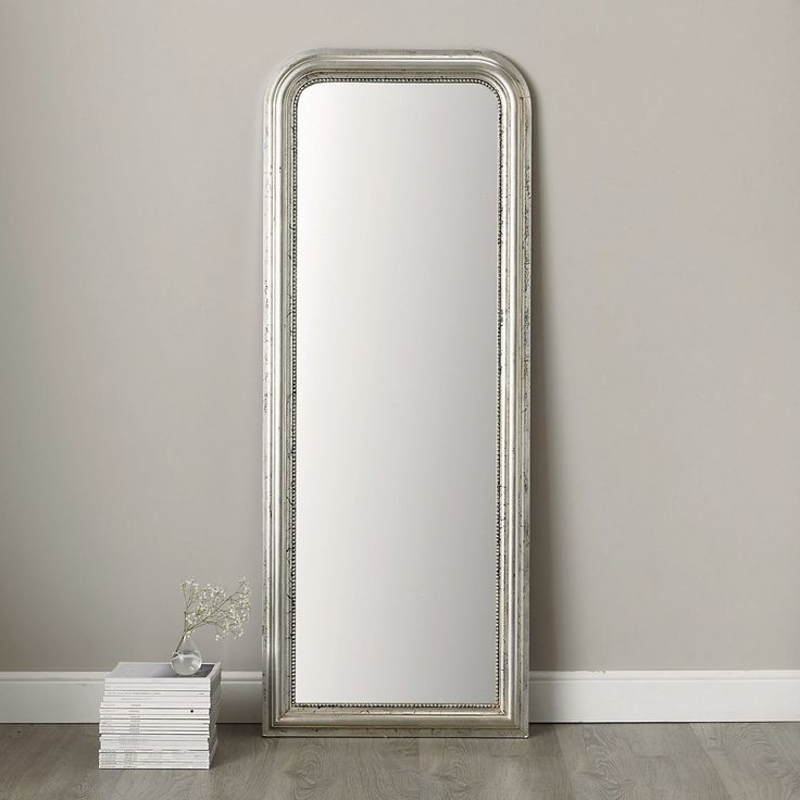 20 best mirror images on pinterest floor length mirrors for Silver long mirror