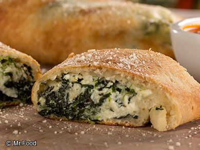 Spinach and Cheese Stromboli | mrfood.com | weekdays on NEWSChannel 2 at Noon Thursday 3/27/2014