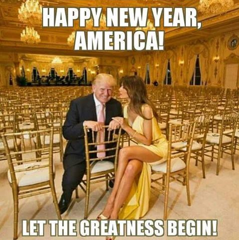 Happy New Year 2017!!!May God Bless & Protect President Elect Trump 1/20/17!!! #MAGA