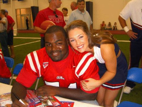 Collins Tuohy and Michael Oher - the real deal. <3 Love this brother and sister pair!