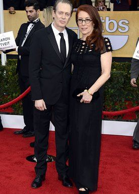"""""""Boardwalk Empire"""" actor Steve Buscemi and his wife, Jo Andres."""