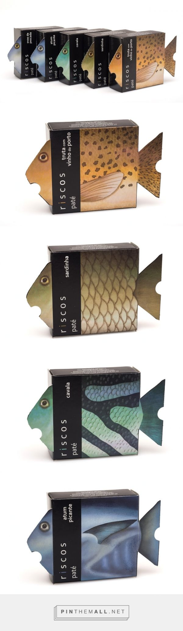 Riscos #Fish Patés #packaging designed by NósNaLinha - http://www.packagingoftheworld.com/2015/06/riscos-pates.html
