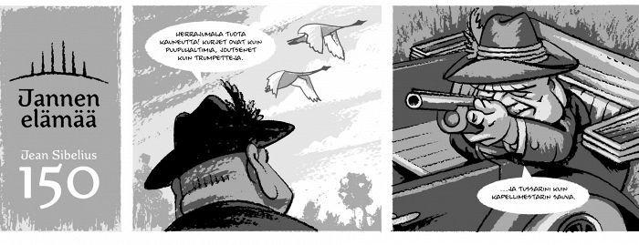 Kesäkuun Sibelius-sarjakuva: Lintujen kauhu - Sibelius - Kulttuuri - Helsingin Sanomat