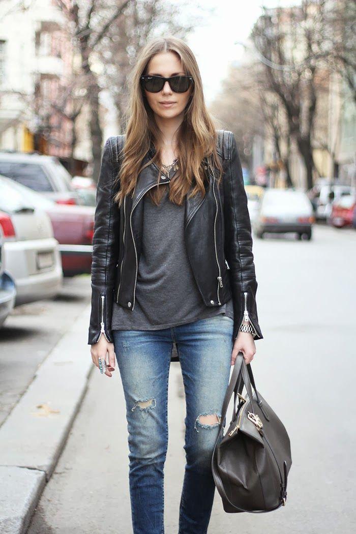2014 slip-ons: h&m,bag: dkny,t-shirt: mango,   jeans: zara,necklace: vintage, jacket: zara