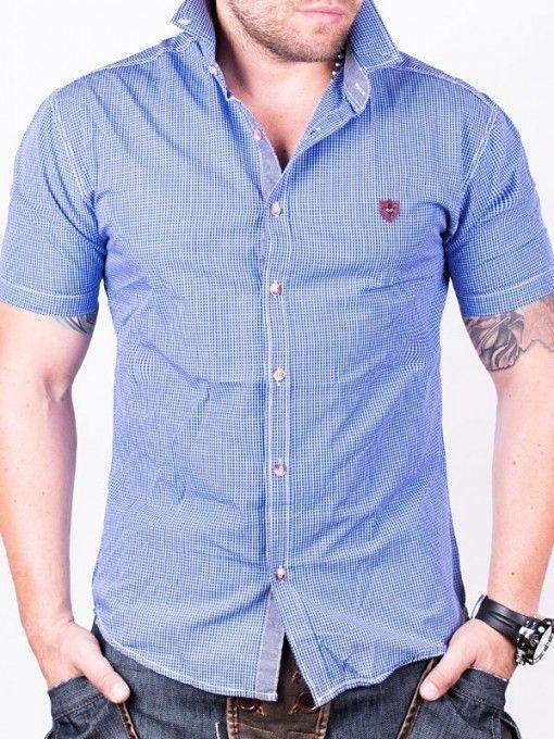 Camasa barbati RedFactor cu maneca scurta albastru
