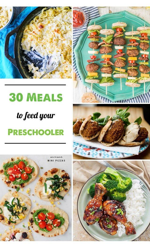 30 Dinner Ideas For Preschoolers