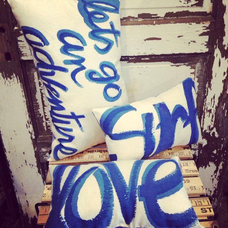 Handmade pillows by @acleverspark now available at S&G!
