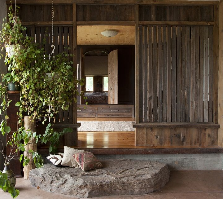 Salvaged Wood Divider Clark Sanders In Upstate NY Specializes Natural Building And Straw Bale