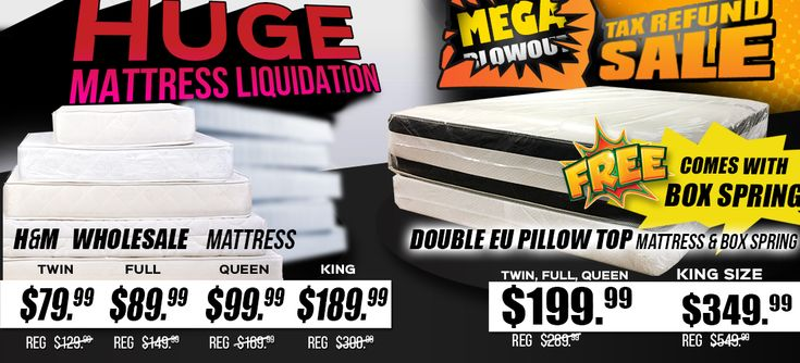 MEGA BLOWOUT TAX SUPER SALE MATTRESS SUPER LIQUIDATION!  Get great discounts on Mattresses: Twin for $80, Full for $90, Queen for $100, King for $190 FREE BOX SPRING!  www.JMDFurniture.com  or visit one of our locations in DMV! Only at JMD Furniture  #JMDFurniture #Supersale #MegaBlowout  #Mattress #Liquidation #JMDPrice #JMDValue #JMDGuarantee