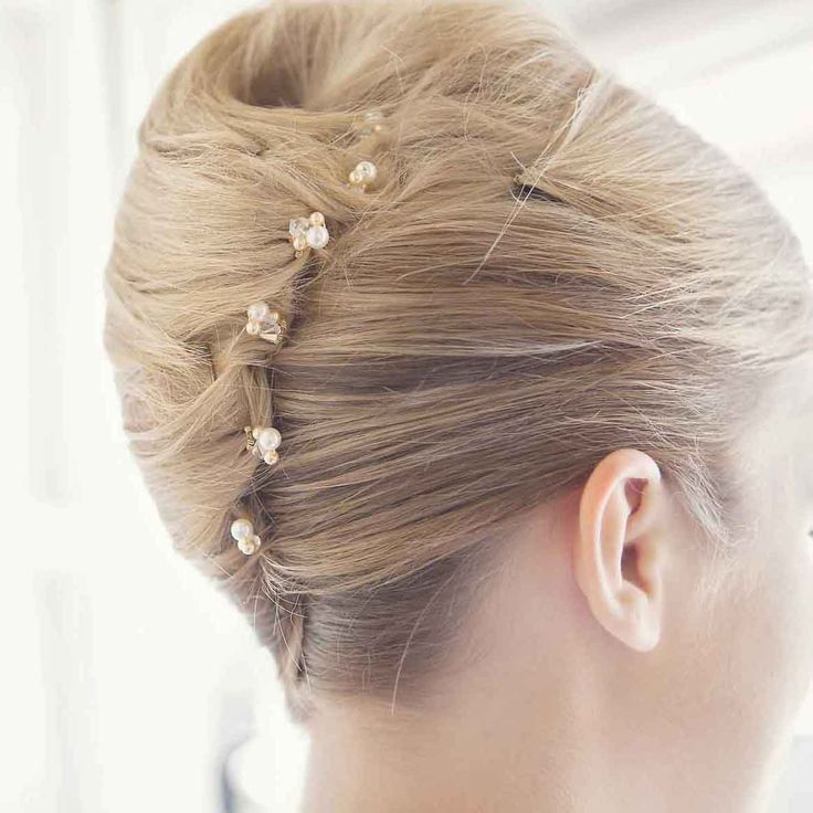 Glamour Puss Hair Pins In Ivory And Gold A Clustered Hair