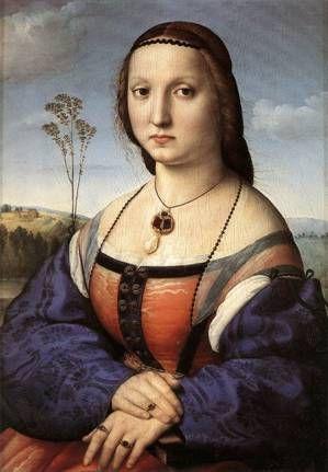 Maddalena Doni, ca. 1506 (Raphael) (1483-1520) Palazzo Pitti, Galleria Palatina, Firenze