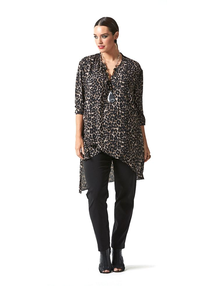 Sophisticated Lady Leopard Shirt