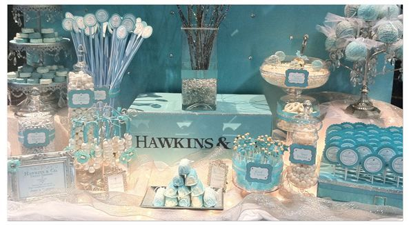 <3: Shower Ideas, Desserts Buffet, Candy Buffet, Tiffany Parties, Tiffany Blue, Candy Bar, Bridal Shower, Desserts Tables, Tiffany Theme