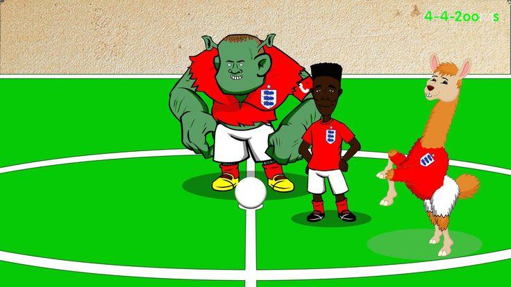 ESTONIA vs ENGLAND by 442oons 0-1 12.10.14 (Rooney freekick, cartoon, Eu...