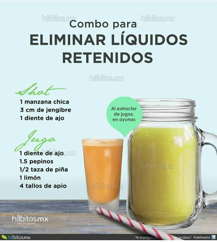 Retención de líquidos - hábitos.mx