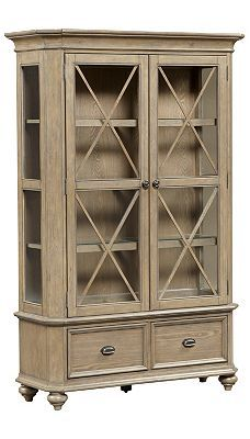 #Havertys Lakeview China Cabinet Has A Naturalist Look Perfect For Storing  Collectibles.