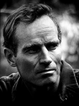 First fell in love with Charleton Heston while watching him in Ben-Hur.
