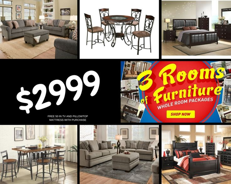 Choose A Queen Bedroom Set, A Dining Room Set And A Living Room Set And