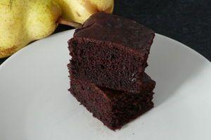 Brownie hypocalorique aux poires
