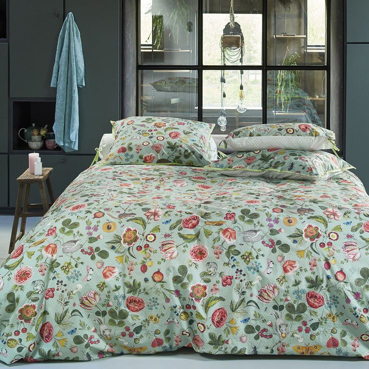 Discover the Pip Studio Woodsy Duvet Set - Blue/Green - King at Amara