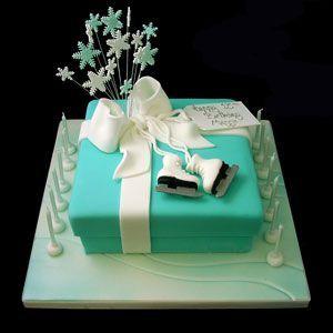 Gift Box with Ice Skates Cake | Jane Asher Party Cakes | Celebration Cakes | London?