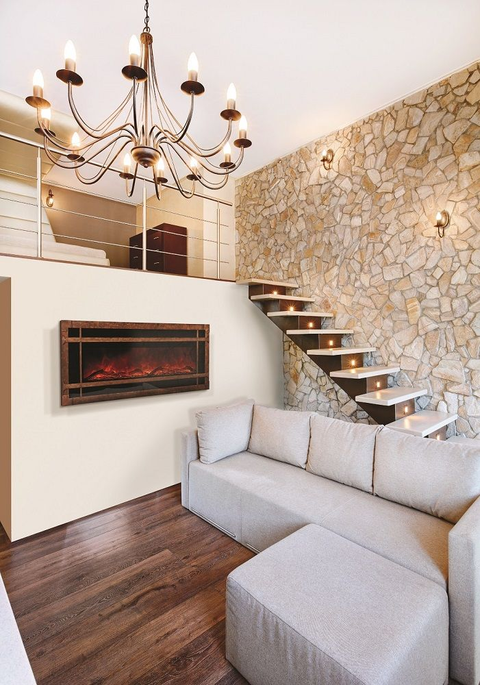 Fireplace Wall Flush Wall With Glass Tile And Metal: 17 Best Images About Basement Electric Fireplaces On